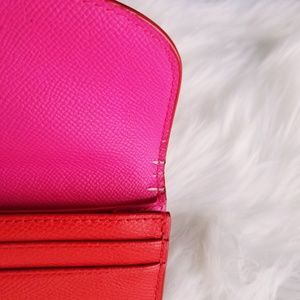 Coach Bags - Coach | Pink & Red Colorblock Wallet